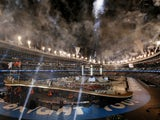 A general shot of the 2019 European Games opening ceremony in Minsk