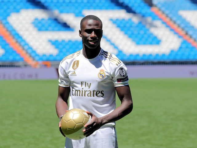 New Real Madrid signing Ferland Mendy on June 19, 2019