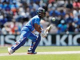 India's Kedar Jadhav in action against Afghanistan on June 22, 2019