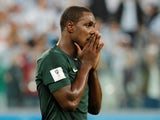 Odion Ighalo pictured for Nigeria in June 2018