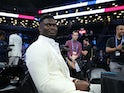 Zion Williams pictured at the NBA Draft on June 20, 2019
