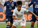 Demi Stokes in action for England on June 19, 2019