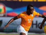 Jean Michael Seri in action for Ivory Coast at the 2019 Africa Cup on Nations