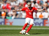 Josip Drmic in action for Switzerland on June 9, 2019