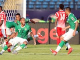 Madagascar's Marco Ilaimaharitra celebrates scoring their first goal against Burundi at the Africa Cup of Nations on June 27, 2019
