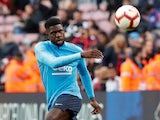 Samuel Umtiti pictured ahead of Barcelona's La Liga clash with Rayo Vallecano in March 2019