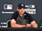 New York Yankees manager Aaron Boone pictured on June 29, 2019