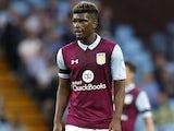 Aaron Tshibola in action for Aston Villa in August 2016