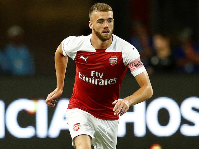 Calum Chambers in action for Arsenal on July 27, 2018