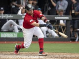 Christian Vazquez in action for Boston Red Sox on June 30, 2019