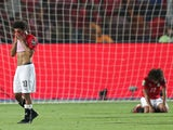 Egypt's Mohamed Salah looks dejected after the match against South Africa on July 6, 2019