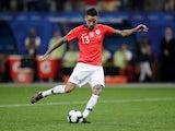 Chile midfielder Erick Pulgar scores from the penalty spot in the Copa America quarter-final against Colombia on June 29, 2019