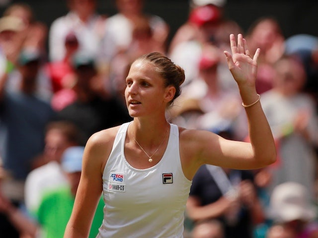 Karolina Pliskova pictured at Wembley on July 3, 2019