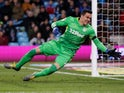 Lovre Kalinic in action for Aston Villa on February 8, 2019
