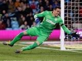 Lovre Kalinic in action for Aston Villa on February 8, 2019