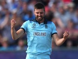 England Mark Wood celebrates a wicket on July 3, 2019