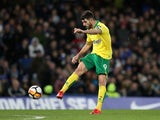Nelson Oliveira in action for Norwich City in January 2018