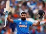 India's Rohit Sharma celebrates another century against Bangladesh on July 2, 2019