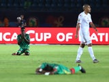 Mauritania's Bakary N'Diaye reacts after the match against Tunisia on July 2, 2019