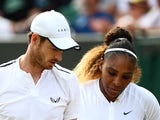 Andy Murray and Serena Williams at Wimbledon on July 10, 2019