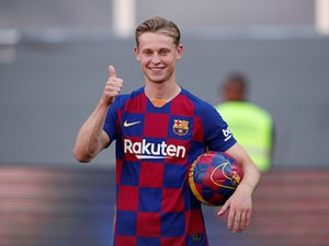 Frenkie de Jong is unveiled as a Barcelona player on July 5, 2019