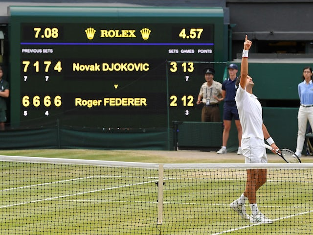 Result: Novak Djokovic beats Roger Federer in epic five-set Wimbledon final