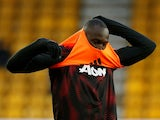 Romelu Lukaku pictured ahead of Manchester United's Premier League meeting with Wolverhampton Wanderers in April 2019
