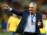 Brazil coach Tite celebrates after winning the Copa America on July 7, 2019