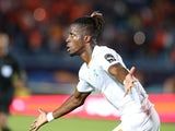 Ivory Coast's Wilfried Zaha celebrates scoring their first goal against Mali on July 8, 2019