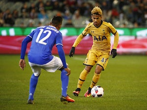 Tottenham Hotspur attacker Marcus Edwards pictured in July 2016