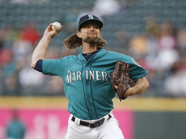 Result: Mike Leake three outs away from perfect game as Mariners crush Angels