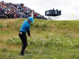 Rory McIlroy in the rough at The Open on July 17, 2019