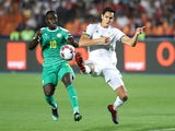 Algeria's Aissa Mandi in action with Senegal's Sadio Mane in the Africa Cup of Nations final on July 19, 2019