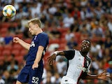 Tottenham's Oliver Skipp in action with Juventus' Blaise Matuidi on July 21, 2019