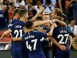 Tottenham's Harry Kane celebrates scoring their third goal against Juventus on July 21, 2019