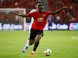 Manchester United defender Aaron Wan-Bissaka in action against Inter Milan in the International Champions Cup on July 20, 2019