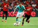 Manchester United's Jesse Lingard in action with Inter Milan's Milan Skriniar in the International Champions Cup on July 20, 2019
