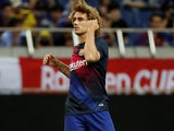 Antoine Griezmann warms up for Barcelona on July 23, 2019