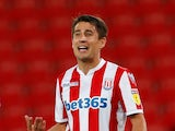 Bojan Krkic in EFL Cup action for Stoke City in August 2018