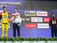 Duncan Scott refuses to acknowledge Sun Yang at the World Championships on July 23, 2019