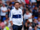 Chelsea manager Frank Lampard on the touchline for the pre-season clash with Reading on July 28, 2019