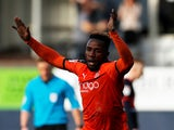 Kazenga LuaLua in action for Luton Town on March 23, 2019