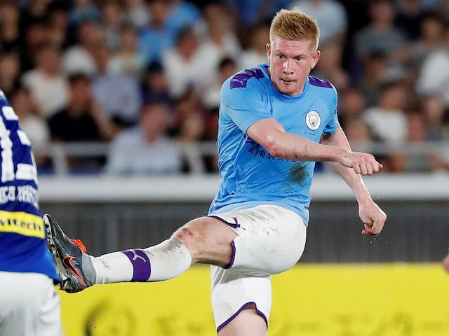 Kevin De Bruyne in action for Manchester City on July 27, 2019