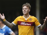 Lee Erwin in action for Motherwell in May 2015
