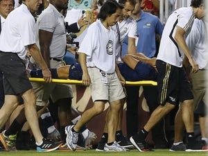 Marco Asensio is stretchered off on July 23, 2019
