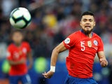 Chile and Al-Ahli Saudi FC defender Paulo Diaz in Copa America action on July 6, 2019