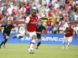 Arsenal forward Alexandre Lacazette scores against Real Madrid in the International Champions Cup on July 23, 2019