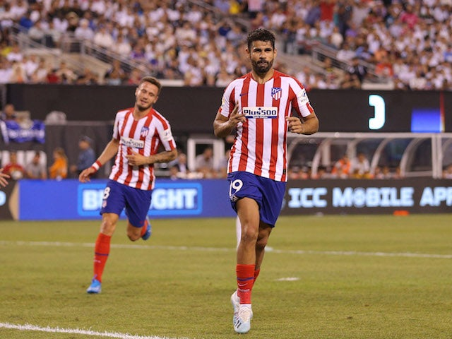 Atletico Madrid's Diego Costa celebrates scoring against Real Madrid in the International Champions Cup on July 26, 2019