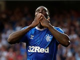 Sheyi Ojo celebrates scoring for Rangers on July 25, 2019