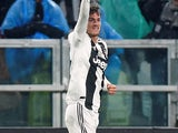 Daniele Rugani celebrates scoring for Juventus on February 2, 2019